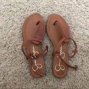 NWOT Jessica Simpson Camel Sandals